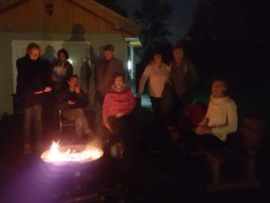 Lagerfeuer beim Vollmondsegeln