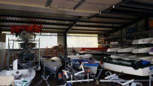 Die Bootshalle ist gut gefüllt