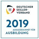 Ausgezeichnet für Ausbildung 2019, deutscher Seglerverein