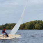 Laser auf dem Neuländer See mit Radial-Rigg