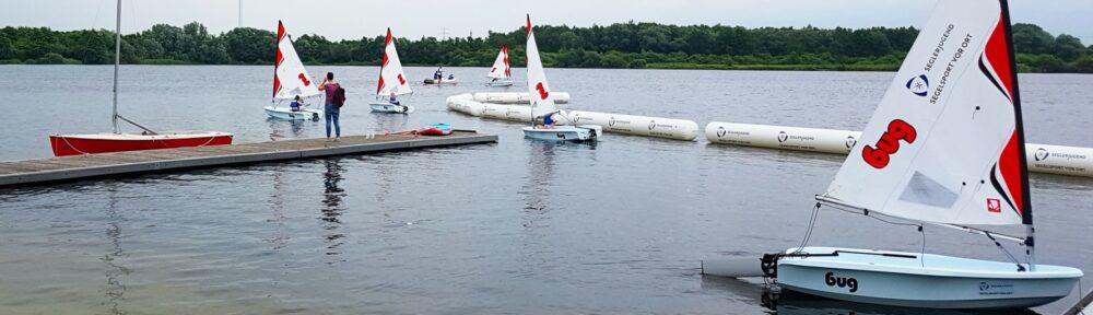 Die Boote der Seglerjugend Roadshow auf dem Neuländer See